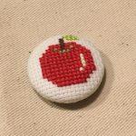クロスステッチ,フリーチャート,りんご,リンゴ,可愛い,アイロンビーズ