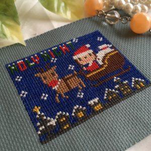 みのり工房,クロスステッチ,フリーチャート,無料,クリスマス,,小さい,ミニ,可愛い,