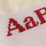 クロスステッチ,アイロンビーズ,フリーチャート,アルファベット,小さ目,1色,みのり工房